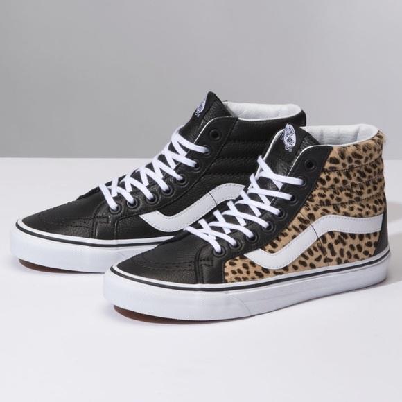 45eac947bc NIB VANS SK8-Hi Reissue Leopard Sneakers 7.5